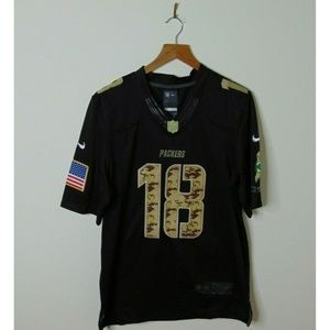Nike L Green Bay Packers Salute Jersey Black